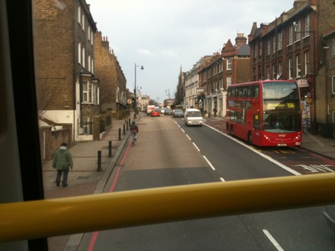 Wandsworth - East Hill from the top of the 87 bus