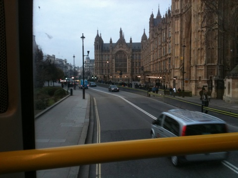 Houses of Parliament from the top of the 87 bus