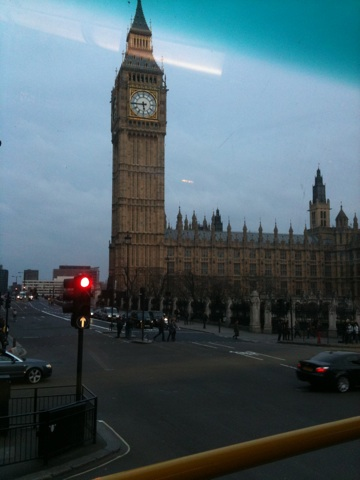 Big Ben from the top of the 87 bus