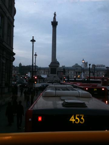 Nelson's Column from the top of the 87 bus