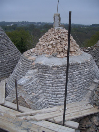 Trulli cone partially restored