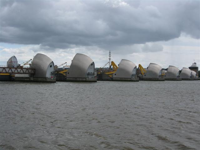 The Thames Barrier at 39 miles