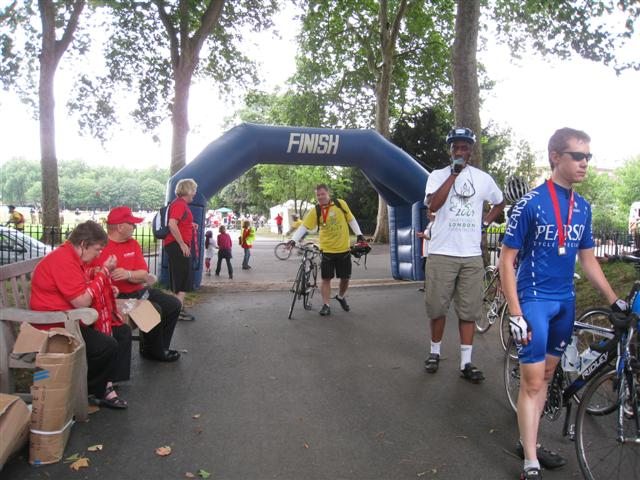The Finish Line at Royal Hospital after 52 Miles