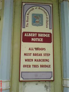 all troops must break step when marching over this bridge