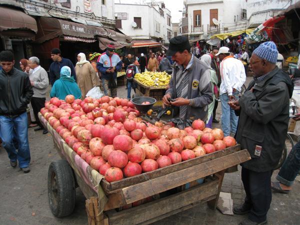 casablanca: market pomegranates