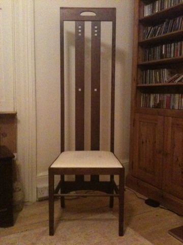 Charles Rennie Mackintosh style chair