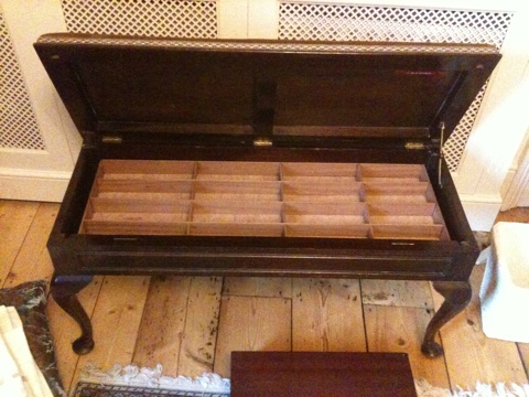 cutlery tray - in the piano stool