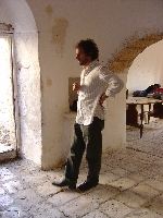 Daniele inspects the interior