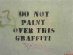 do not paint over this graffiti