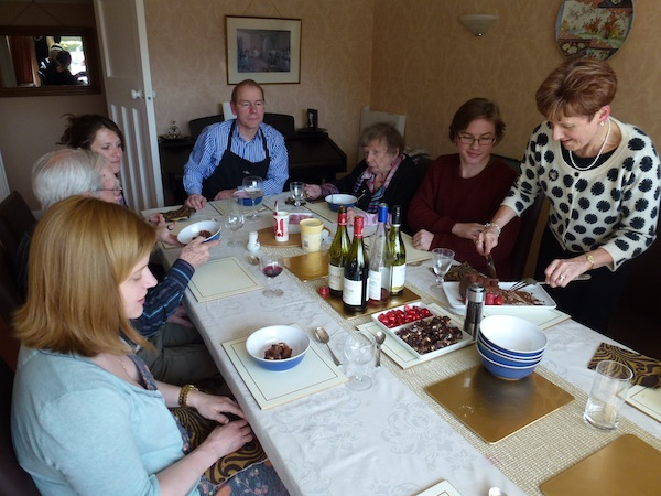 Easter 2012 - family meal