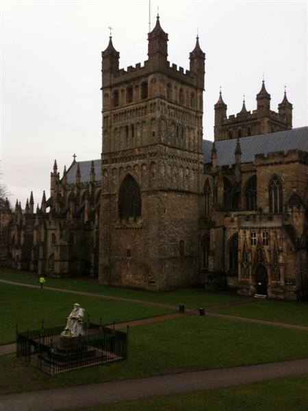 Exeter cathedral - the view from our hotel room