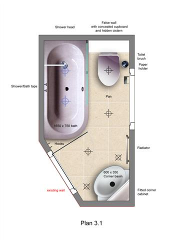 plan for new bathroom