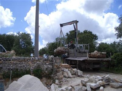 Lorry Delivering Flagstones
