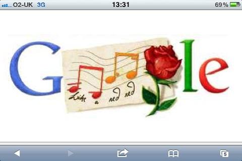Google Doodle Burns Night 2011