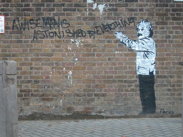 graffiti of Einstein
