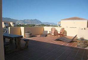 terrace view towards mountains