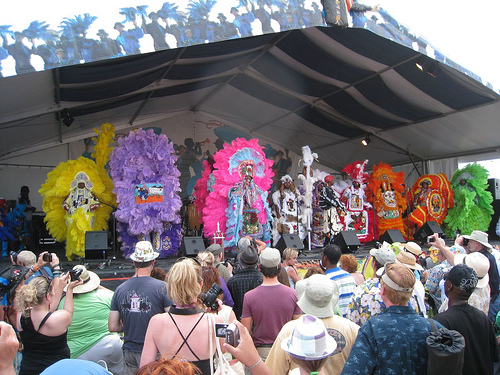 Mardi Gras Indians at The Jazz Fest