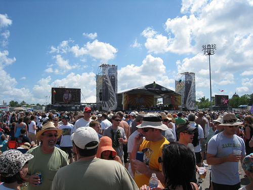 Crowd Scene at the Acura Stage The Jazz Fest