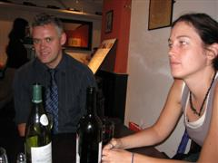 Chris (mrtee) and Chris (bluedee79) in the Crusting Pipe wine bar