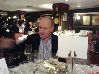 Pete at Le Gavroche