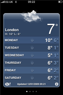 London 7 day forecast - rain and 7 C