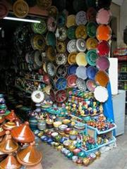 Marrakech Ceramic Stall