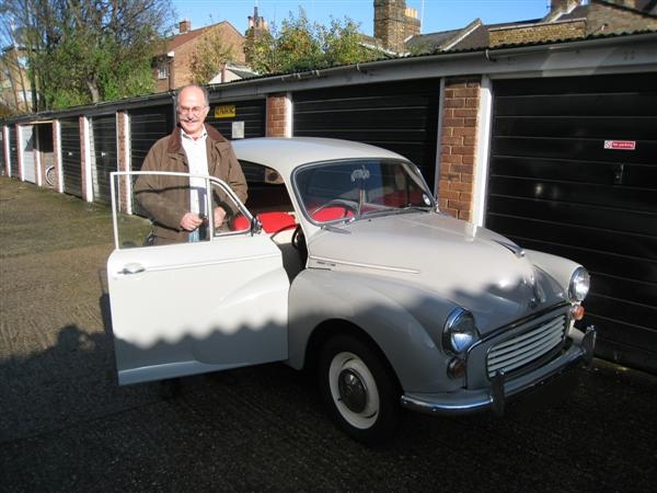Molly the Morris Minor leaves with her new owner