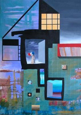 Multiple Images, painting by Michael McLellan