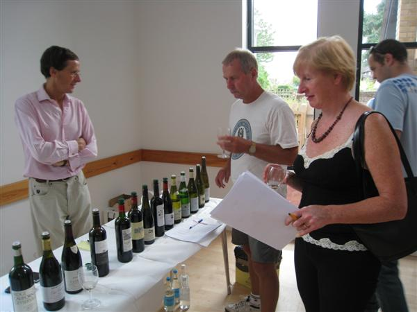 New Forest Wine tasting 19 September 2009 - Bob and Mary tasting wine