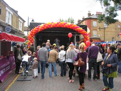 Old York Road, Wandsworth - Street Party 2010 Stage