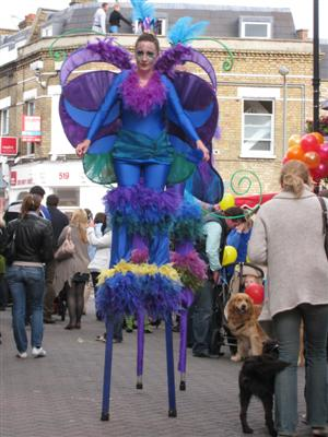 Old York Road, Wandsworth - Street Party 2010 Stilt-walker