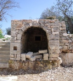 pizza oven after restoration
