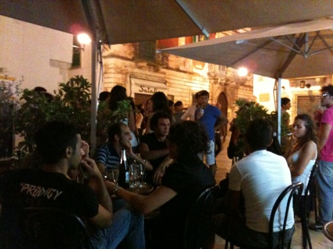 People watching at Caffe Della Villa, Locorotondo