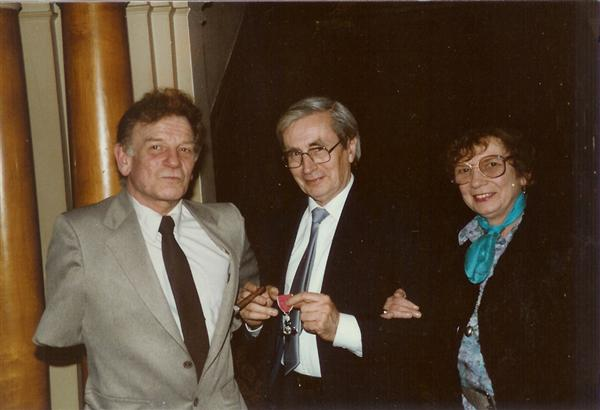 Uncle Ralph at my father's investure (MBE) 1984