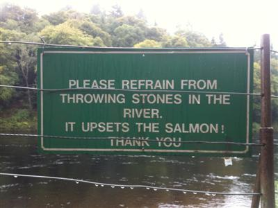 River Tay sign