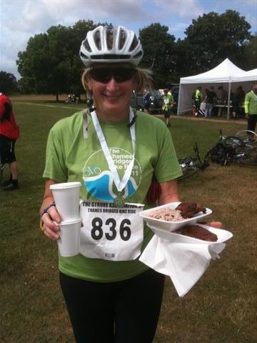 Thames Bridges Bike Ride 2011 - Finish at Hurst Park