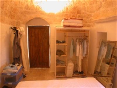 bedroom in trulli