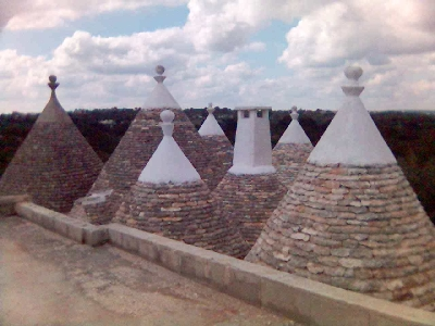 conical Trulli roofs